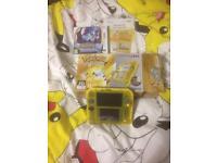 Nintendo 2ds Pokemon yellow pikachu edition with Pokemon moon