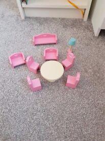 ELC Rosebud cottage dolls house furniture