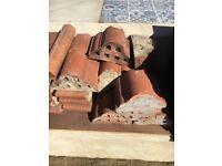 Original Edwardian / Victorian hogs backs for wall tops