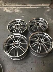 """18"""" Deep Dish Alloy Wheels . 5x114 / 5x100 . In very good condition ."""
