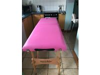 Pink Mobile Massage/beauty table