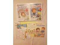 Childrens potty training, bedtime and mealtime books and reward charts