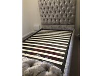 House of Sparkles - Beautiful California Sunshine Small Double Ottoman Bed