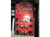 Grover rotogrip locking tuners gold