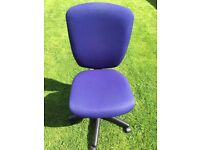 Blue Office Gas Lift Chair