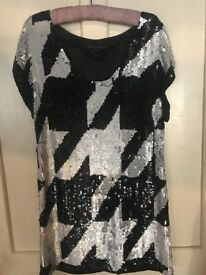 french connection sequinned dress
