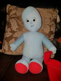Iggle piggle soft toy with his scarf