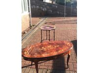 Coffee table and drinks trolley