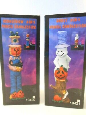 Halloween Decorations Ghost 2 &1 Candlestick Scarecrow 2 &1 Pencil Candlestick - $1 Halloween Decorations