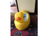 DUCK BABY SAFETY BATH BY MUNCHKIN - DEFLATES FOR HOLIDAYS