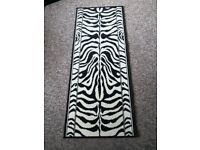 Gorgeous cream and black animal print hall runner / rug £20