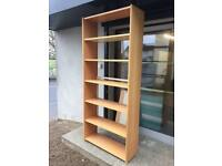 Solid beech library shelving