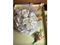 Artifical Wedding flowers bridal bridesmaid flower girl boquet