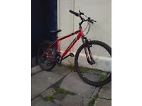 Feud mountain bike with front suspension