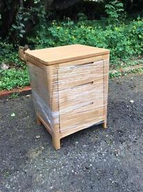 Brand New Ex-Demo 3 Drawers Oak Bedside Chest