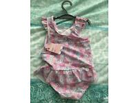 Brand New Mothercare Ditsy Floral Girls Swimsuit 4 Years