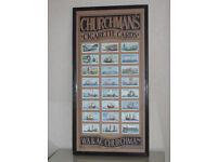 Churchman's Cigarette Cards - Framed