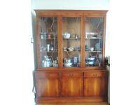 Solid wood yew dresser