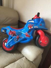 Ride on Spider-Man bike