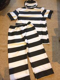 Fancy dress Prisoner outfit for children fits 5-6