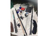 """3no rods. 1 carbon fibre Match rod. 1 13"""" fibre glass general 1 lightweight boys"""