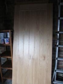 oak internal door, 78 x 33 inches