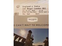India vs England 1st ODI Trent bridge