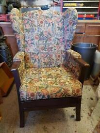 Old floral chair