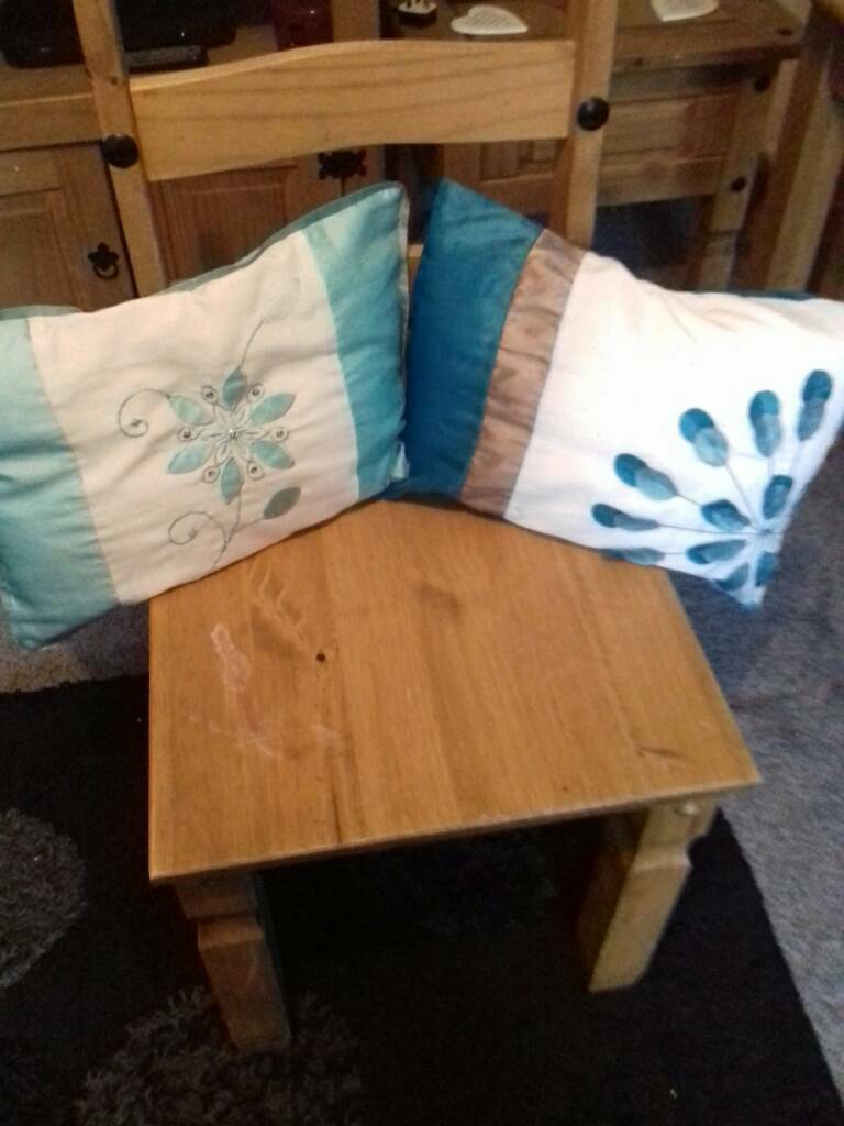 Good condition vanity cushions with washable covers from pet and smoke free home