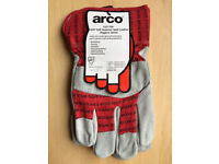 10x Arco Superior Red Leather Rigger Glove Size 10
