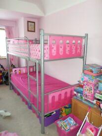 Girls pink bunk bed