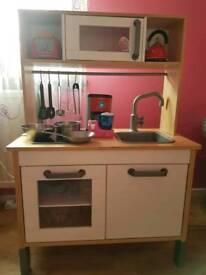 Wooden kitchen for children + accessories