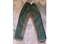 Brand new quilted riding over trousers. Size XS (approx. size 8-10).