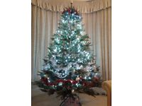 8ft artificial Christmas tree.