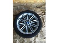 "BMW 1 SERIES M SPORT ""17"" FRONT ALLOY WHEL AND TYRES"
