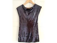 Sparkly Black Young Girls Dress