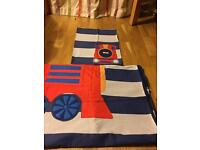 2 single beds sets (boys) quilt cover and pillowcase from next