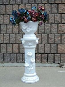 ceramic flower pot with column stand on sale