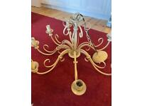 Ceiling light - 7 arm with matching rose