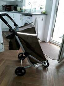 shopping trolley with freezer bag