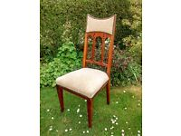 Solid Oak Dining Chairs 4