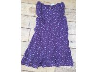 Boden Purple Star Print Dress size 11-12 (comes up smaller)