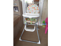 Mamas and Papas High Chair, used but still in very good condition