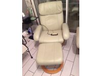 Recliner Massage Chair W/Foot Stool