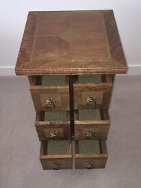 WOW! Handcrafted Flagstone 6 Drawer DVD/CD Wood Storage Chest. 75 x 50 x 50 (cm)