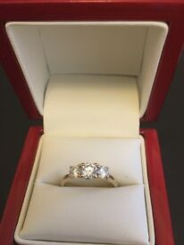 Diamond Trilogy Ring 1.02ct Exceptional Quality valued £7k reduced to under £1k quick sale needed