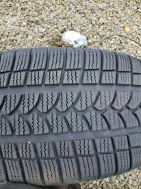 X2 riken winter tyres like new 235/40r18