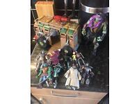Teenage Mutant Ninja Turtles toys figures and van Lot Bundle