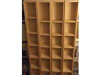 4 x Ikea DVD shelves GNEDBY birch