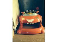 Baby walker racing car